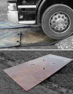 Ground matting and ground plates